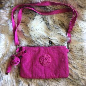 Pink Kipling Shoulder Bag Crossbody Fanny Pack